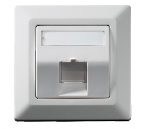 Wall outlet Keystone 1-fold