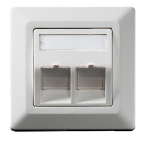 Wall outlet Keystone 2-fold