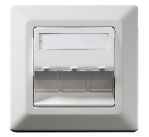Wall outlet Keystone 3-fold